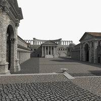ancient roman 3D model