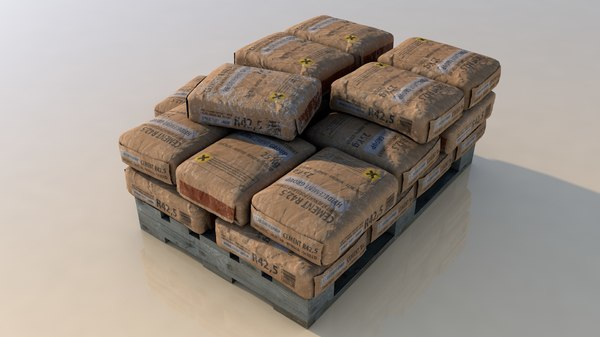cement bag pallet 3D model