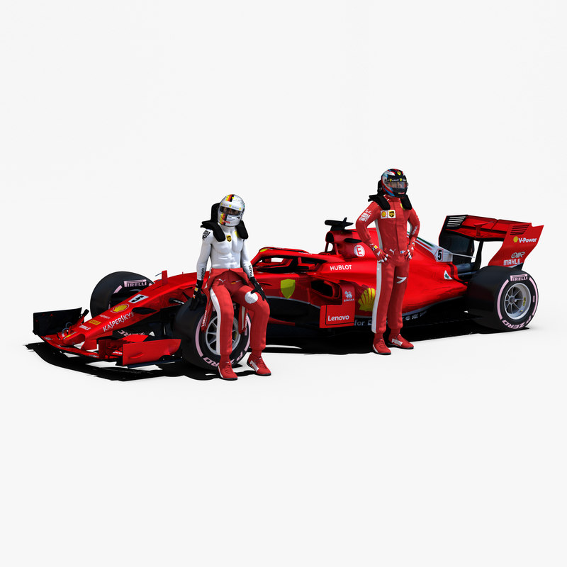 3D rigged f1 car