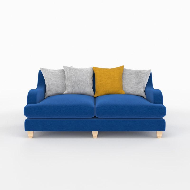 seat sofa furniture 3D model