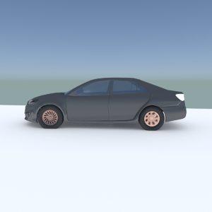 3D toyota camry model