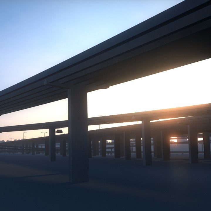 3D freeway model