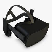 vr oculus rift 3D model