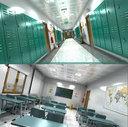 Classroom and School Hallway