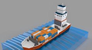 3D ocean freight model
