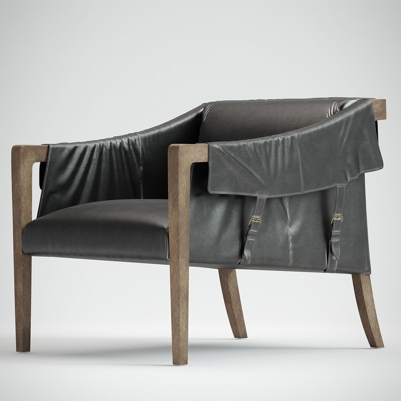 leather strap chair 3D