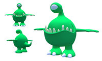 3D monster animation