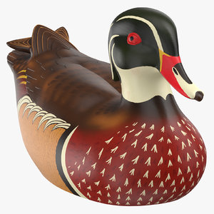 duck decoy 02 3D model