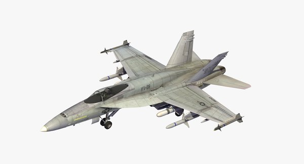 3D fa18e superhornet navy jet model