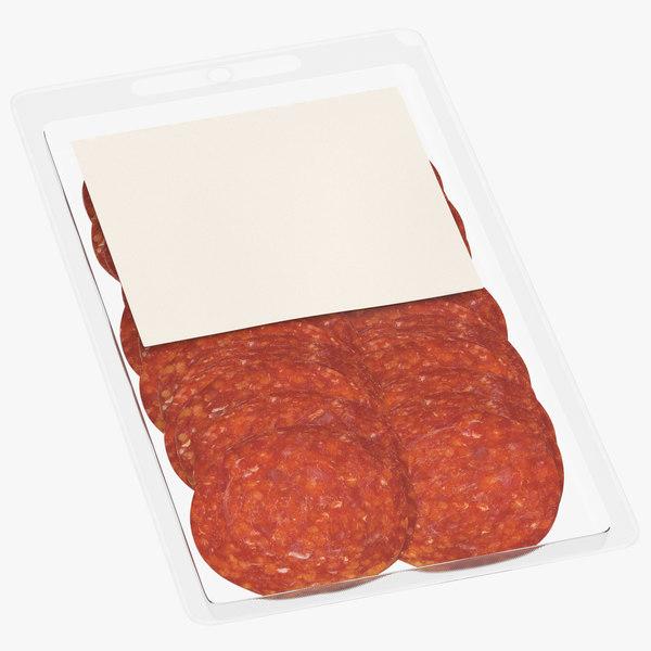 3D meats packaging 02 model