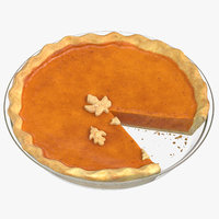 3D pumpkin pie 02