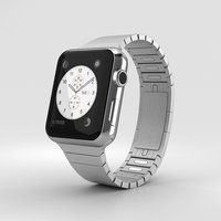 3D apple watch stainless model