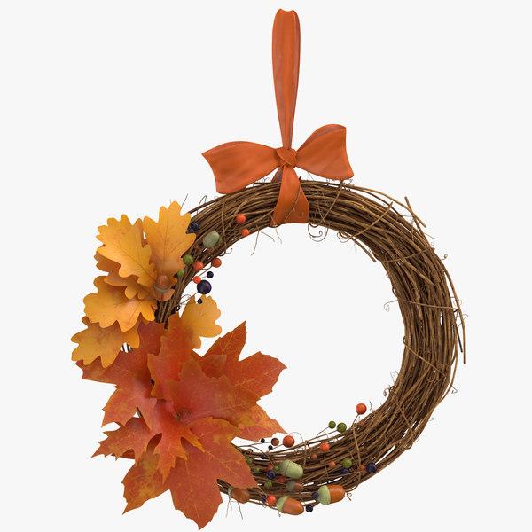 autumn wreath 03 model