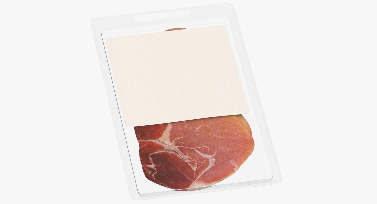 3D model meats packaging