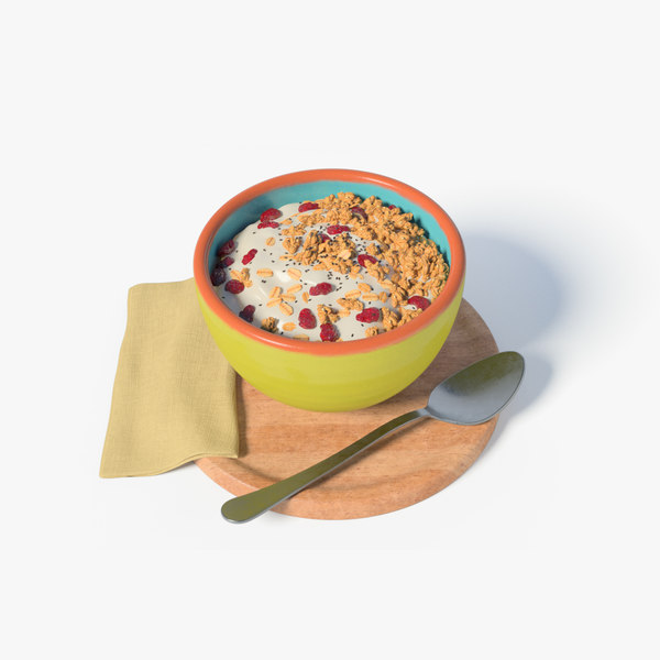 3D bowl yogurth cereals