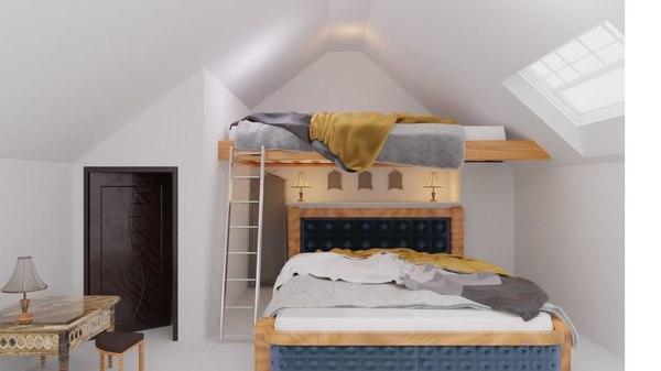 3D scene bed model