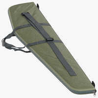 3D model rifle case 02 lying