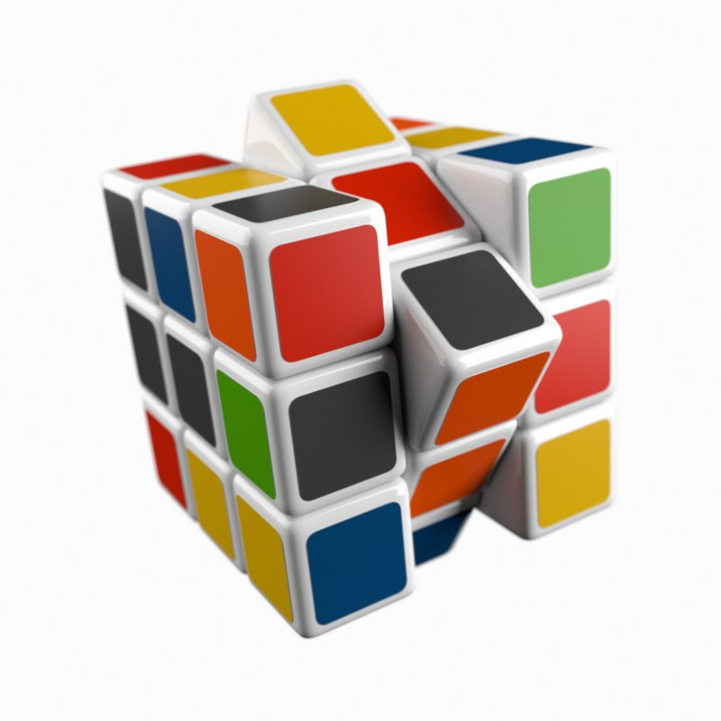 rubiks cube animate 3D model