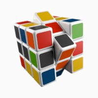 rubiks cube animate 3D model