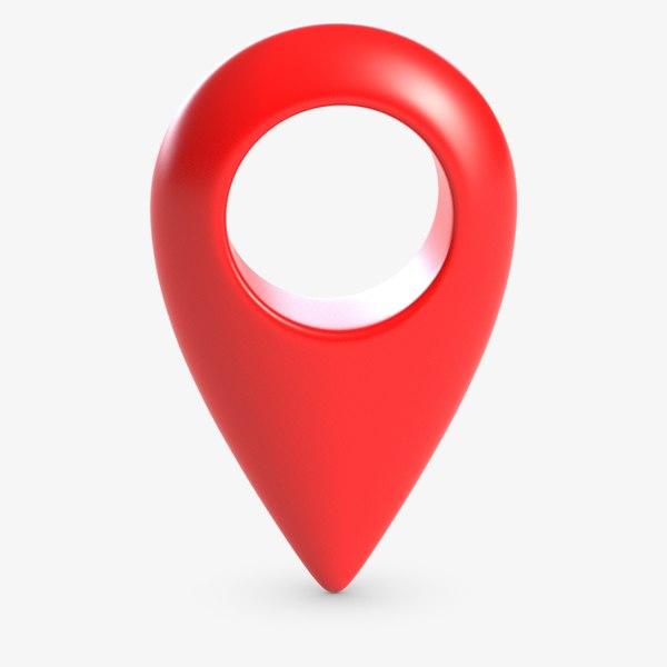 3D gps geo marker icon model