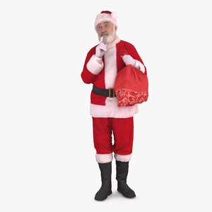 3d santa secret people human