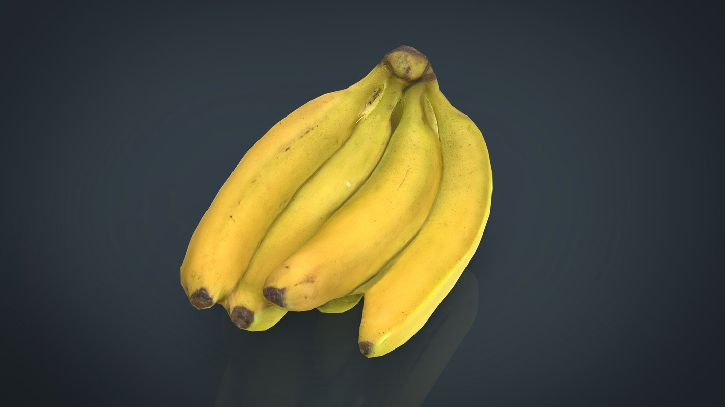 fruit banana food 3D model