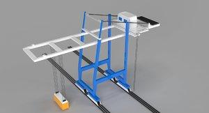 3D contaner crane