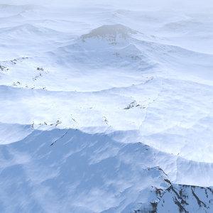 3D model scene landscape terrain