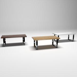 3D model pack table