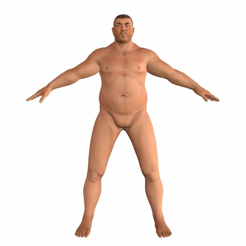 fat rigged 3D model