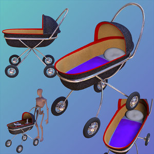 baby buggy object 3D model