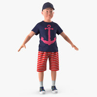 3D realistic teenage boy model