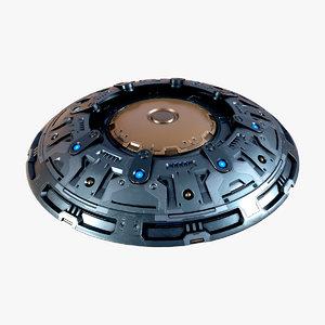 space ufo 3D model
