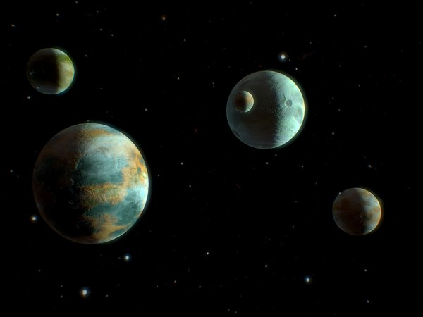 3D planets pack