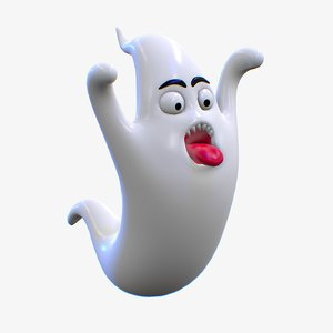 3D model cartoon ghost character 2