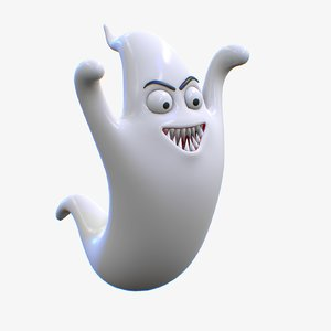 cartoon ghost character model