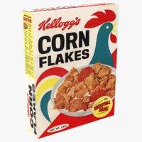 cornflakes corn 3D model