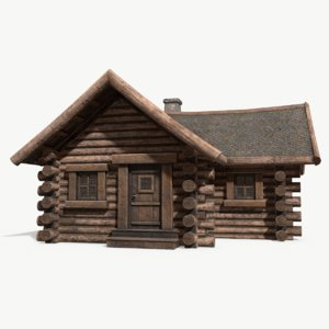 wooden house 002 3D model