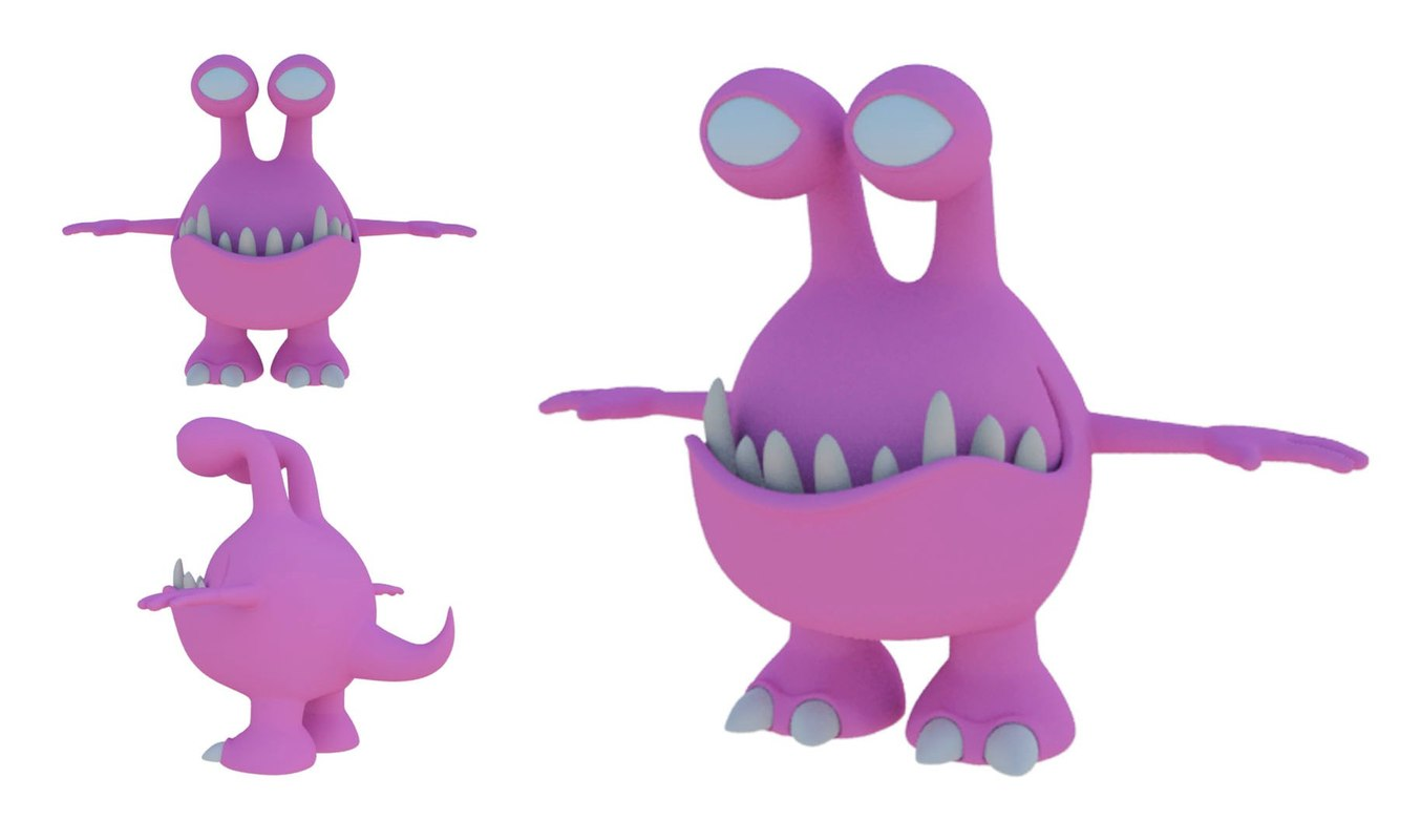 monster animation 3D model