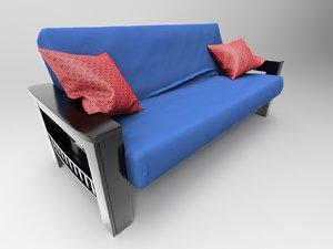 3D model size futon