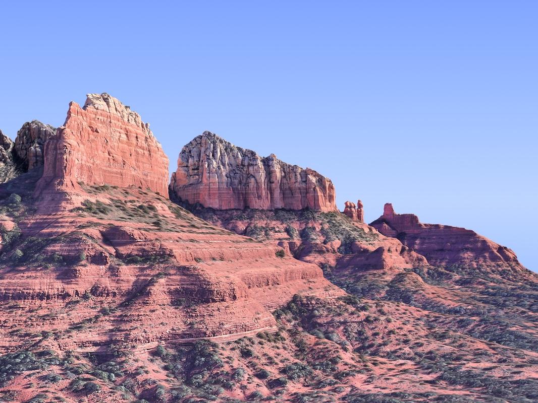 nature arizona mountains hd 3D model