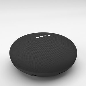 3D google home mini charcoal