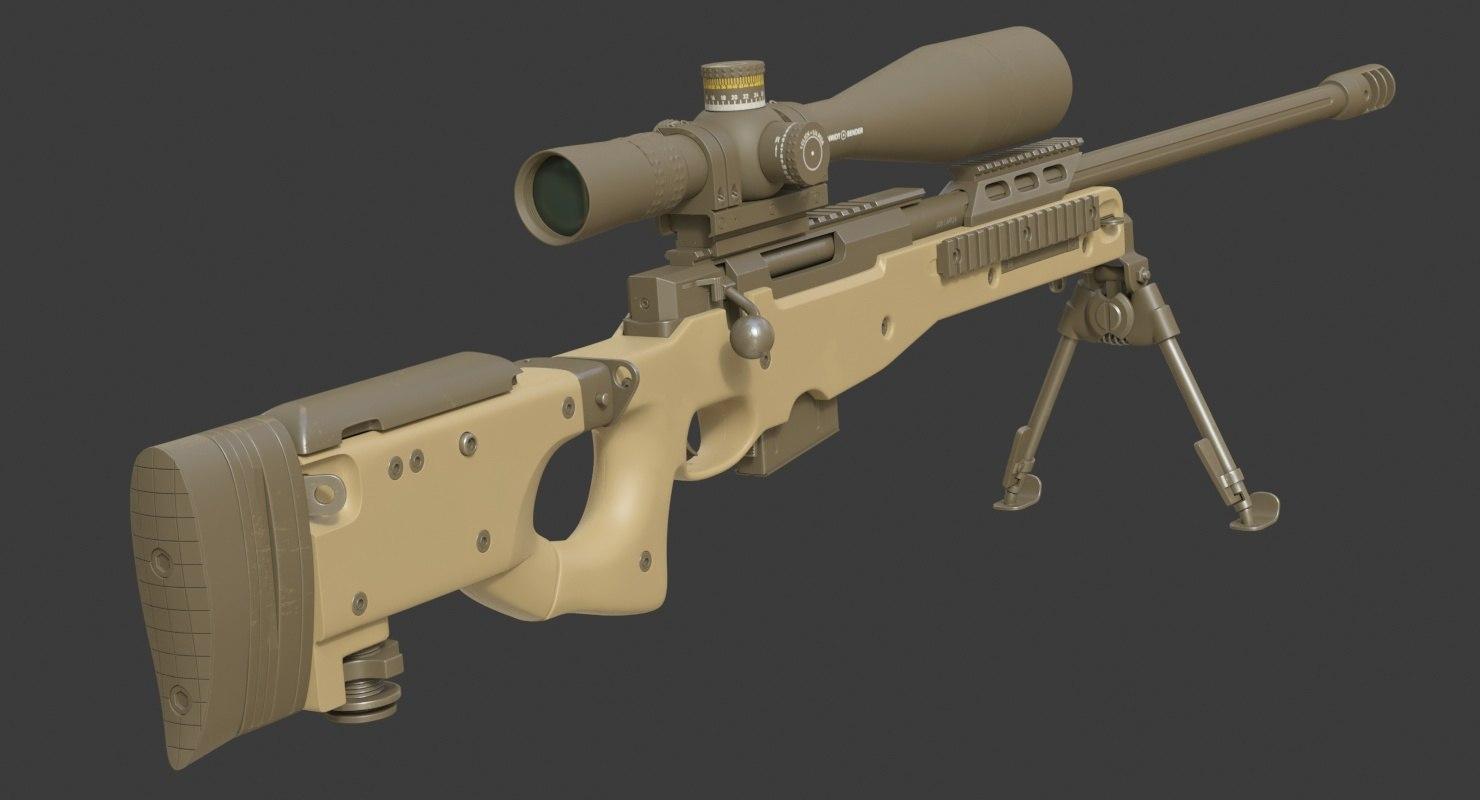 realistic l96a1 338 lapua 3D model