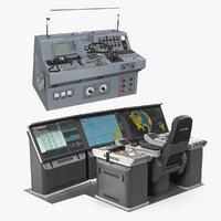 boat control panels 3D