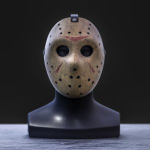 3D serial killer hockey mask model