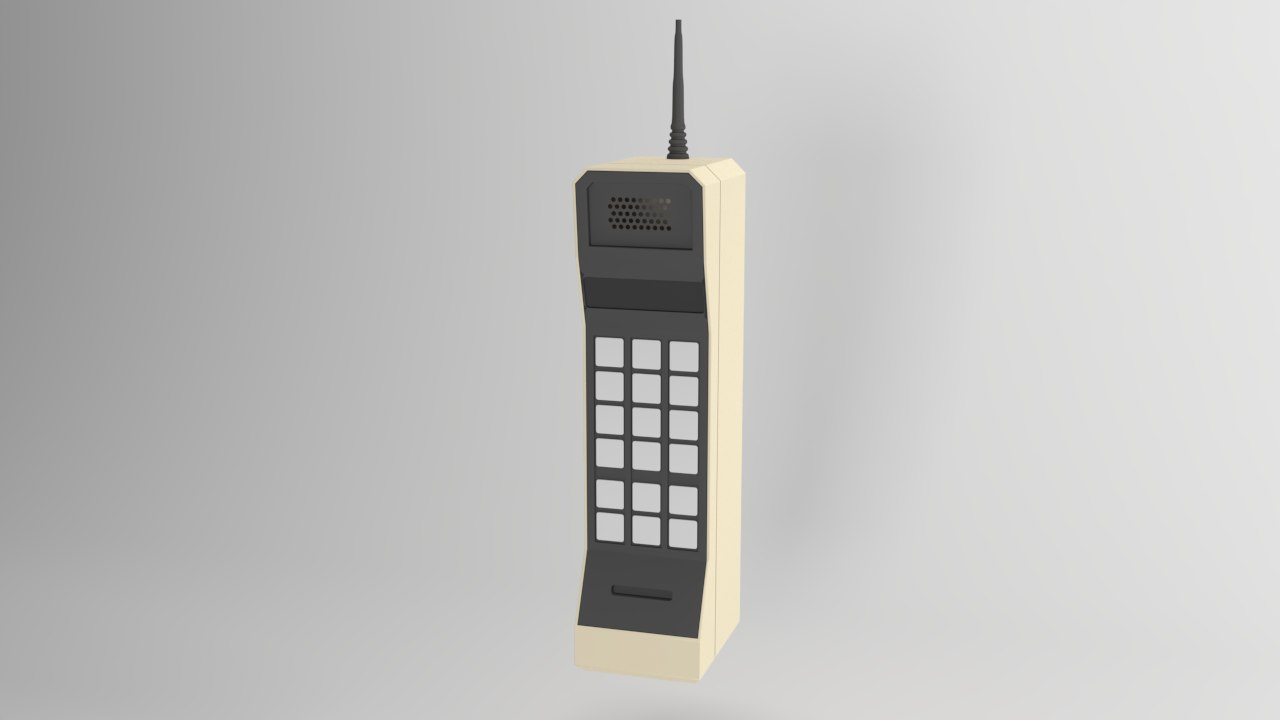 3D old mobile phone