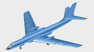 chinese xian h-6 aircraft 3D model