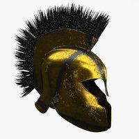3D achilles warrior helmet model