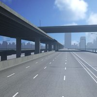 freeway roads street 3D model