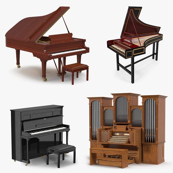 musical keyboard instruments keys model